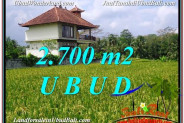 Magnificent 2,700 m2 LAND FOR SALE IN Ubud Tegalalang TJUB595
