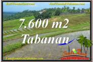 Beautiful LAND IN Tabanan Selemadeg FOR SALE TJTB347