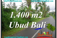 Exotic PROPERTY 1,400 m2 LAND SALE IN UBUD BALI TJUB612