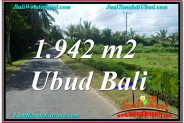 Affordable 1,942 m2 LAND SALE IN UBUD TJUB626