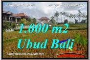 Affordable PROPERTY 1,000 m2 LAND SALE IN UBUD BALI TJUB618