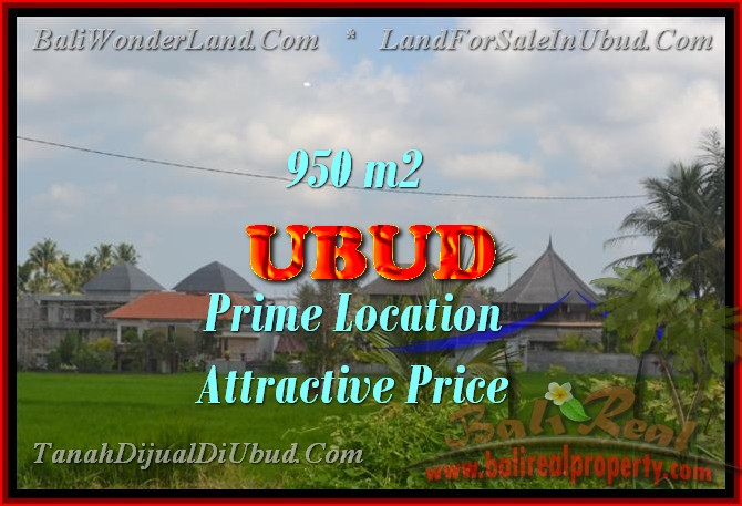 Stunning Land for sale in Bali, Rice paddy view in Ubud Bali - TJUB428
