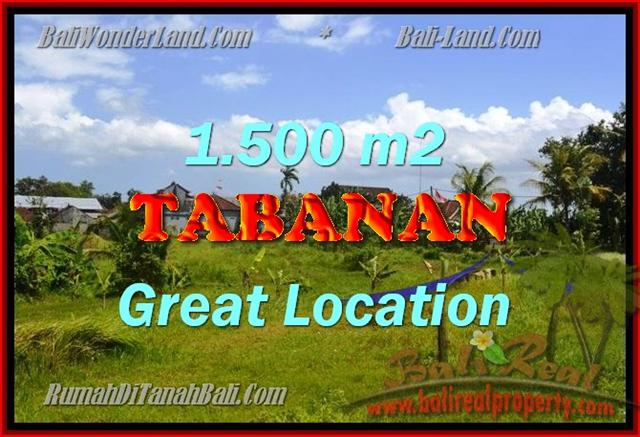 Land in Tabanan for sale, Attractive view in Tabanan Kota ( City ) Bali – TJTB144