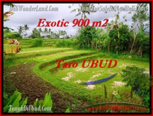 Exotic 900 m2 LAND FOR SALE IN UBUD BALI TJUB464