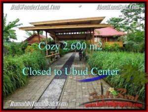 UBUD 2,600 m2 LAND FOR SALE TJUB491