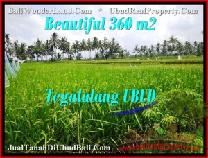 Magnificent PROPERTY 360 m2 LAND SALE IN UBUD BALI TJUB482