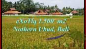 Magnificent 1,500 m2 LAND SALE IN UBUD BALI TJUB488