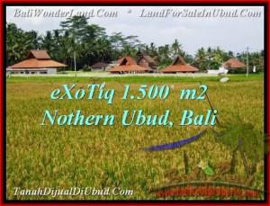 Exotic PROPERTY Sentral Ubud 1,500 m2 LAND FOR SALE TJUB488