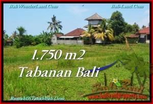 Affordable PROPERTY 1,750 m2 LAND SALE IN TABANAN BALI TJTB231