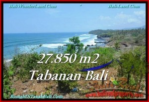Magnificent 27,850 m2 LAND IN TABANAN BALI FOR SALE TJTB229