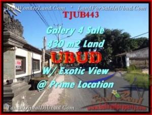 FOR SALE Affordable 430 m2 LAND IN UBUD TJUB443