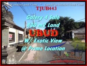 FOR SALE Affordable 430 m2 LAND IN UBUD TJUB443