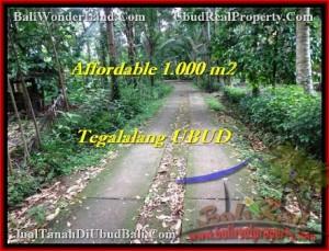 Beautiful 1,000 m2 LAND SALE IN UBUD BALI TJUB467