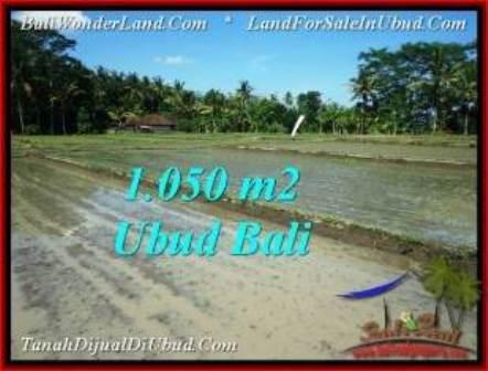 FOR SALE 1,050 m2 LAND IN UBUD TJUB544