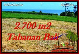Affordable 2,700 m2 LAND IN TABANAN BALI FOR SALE TJTB286