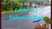 Affordable 1,800 m2 LAND IN TABANAN BALI FOR SALE TJTB321