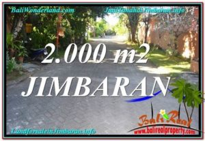 Exotic PROPERTY JIMBARAN 2,000 m2 LAND FOR SALE TJJI115