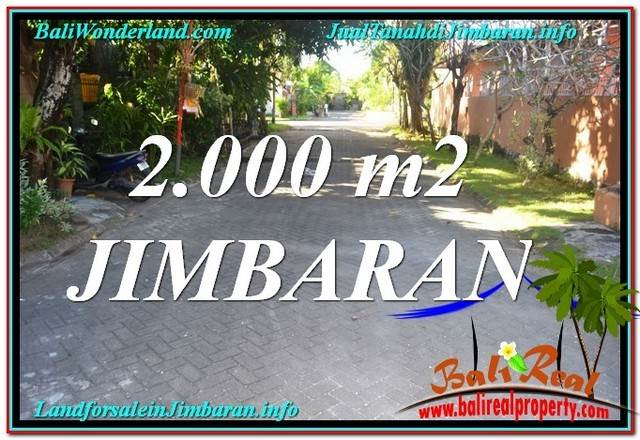 Exotic 2,000 m2 LAND FOR SALE IN Jimbaran Uluwatu  TJJI115