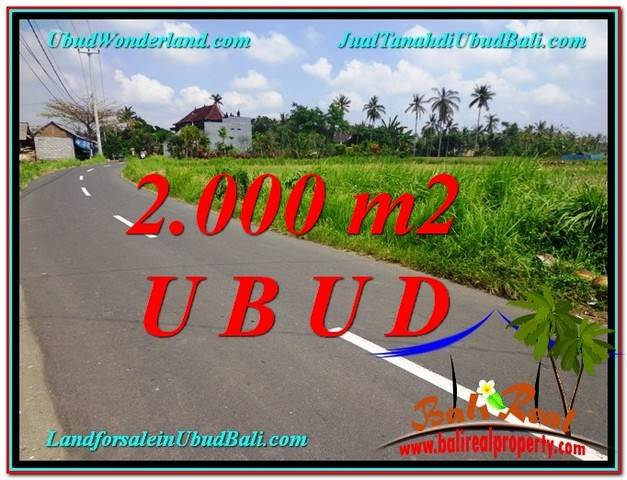 Magnificent 2,000 m2 LAND FOR SALE IN UBUD BALI TJUB580