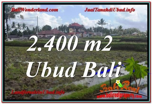Exotic PROPERTY 2,400 m2 LAND FOR SALE IN Ubud Pejeng BALI TJUB620