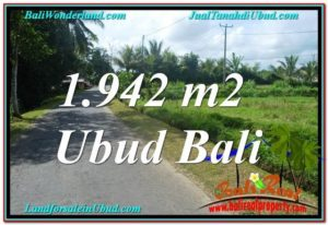Beautiful 1,942 m2 LAND IN UBUD BALI FOR SALE TJUB626