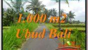 Magnificent 1,000 m2 LAND IN UBUD BALI FOR SALE TJUB634