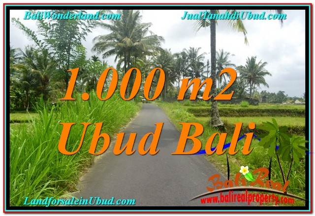 FOR SALE Magnificent 1,000 m2 LAND IN Ubud Tampak Siring BALI TJUB634