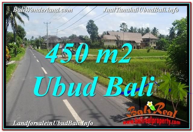 Magnificent PROPERTY 450 m2 LAND SALE IN Sentral / Ubud Center TJUB647