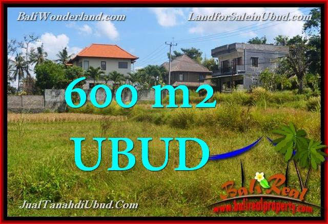 Magnificent 600 m2 LAND IN UBUD BALI FOR SALE TJUB664
