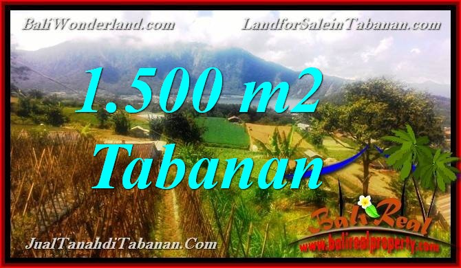 Exotic PROPERTY 1,500 m2 LAND IN TABANAN BALI FOR SALE TJTB373