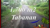 Exotic TABANAN 1,700 m2 LAND FOR SALE TJTB385
