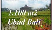 UBUD BALI 1,100 m2 LAND FOR SALE TJUB670
