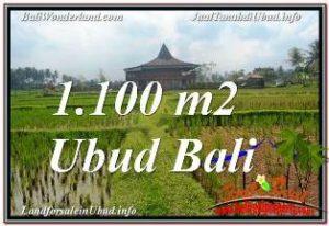 UBUD BALI 1,100 m2 LAND FOR SALE TJUB670