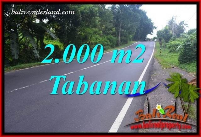 FOR sale 2,000 m2 Land in Tabanan Bali TJTB398