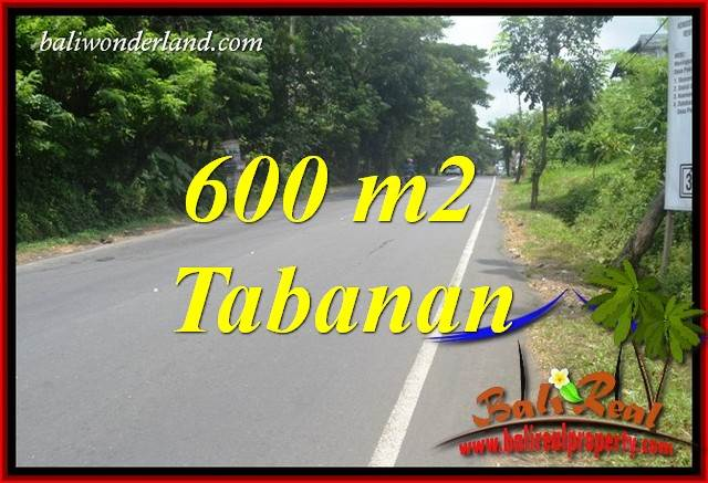 FOR sale 600 m2 Land in Tabanan TJTB401