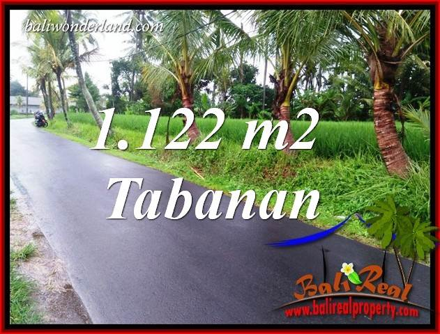 Magnificent Property 1,122 m2 Land sale in Tabanan Kerambitan TJTB404