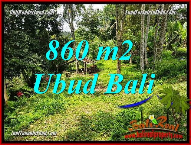 FOR sale Exotic Property 860 m2 Land in Ubud Tegalalang Bali TJUB691