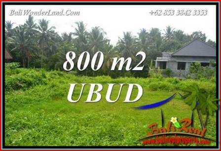 Exotic Property 800 m2 Land in Sentral Ubud Bali for sale TJUB706