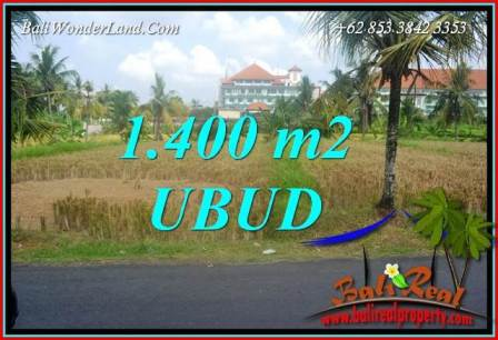 Exotic Property 1,400 m2 Land sale in Sentral Ubud Bali TJUB709
