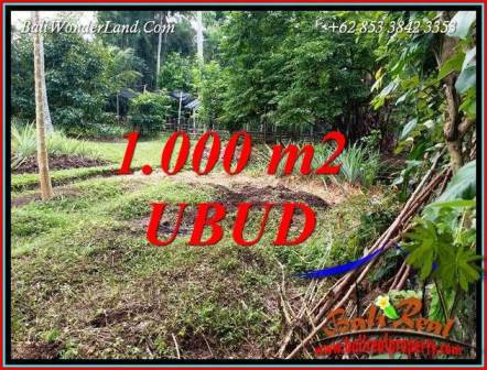 FOR sale Exotic Property 1,000 m2 Land in Sentral Ubud Bali TJUB712