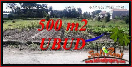 FOR sale Affordable Property 500 m2 Land in Sentral Ubud Bali TJUB720