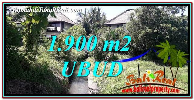 Exotic 1,900 m2 LAND IN Ubud Gianyar FOR SALE TJUB759
