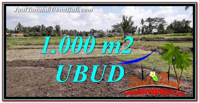 FOR SALE Affordable 1,000 m2 LAND IN UBUD BALI TJUB765